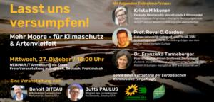 Mehr Moore – für Klimaschutz & Artenvielfalt @ Zoom Onlinekonferenz